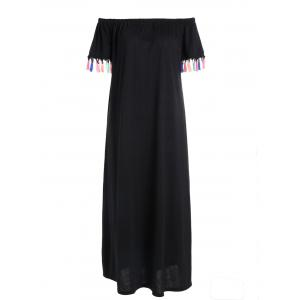Off The Shoulder Tassels Maxi Dress