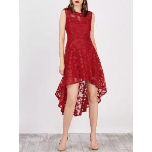Lace High Low Swing Evening Party Dress