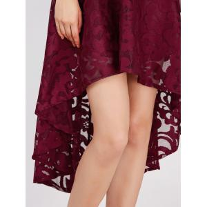 Lace High Low Swing Evening Party Dress -