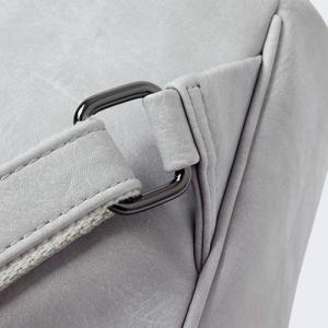 Bowknot Detail Faux Leather Backpack -