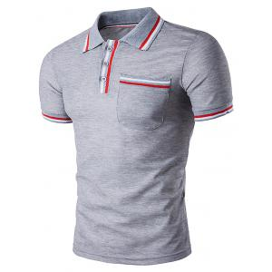 Striped Pocket Polo T-Shirt
