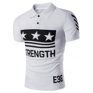 Strength Star Printed Polo T-Shirt