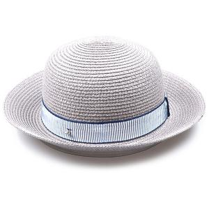 Striped Band Embellished Flanging Bowler Straw Hat