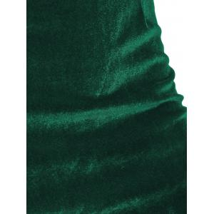 Velvet Fitted Mini Bandage Dress - GREEN XL