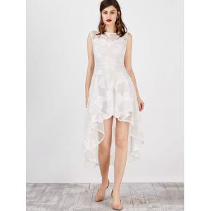 High Low Flowy Wedding Party robe de mariée - Blanc S