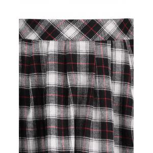 Plaid A Line Mini Skirt - BLACK M