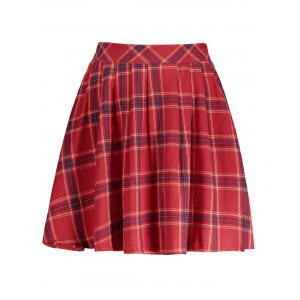 Plaid A Line Mini Skirt
