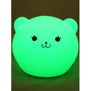 Cartoon Color Changing USB LED Nightlight - White - Pattern C