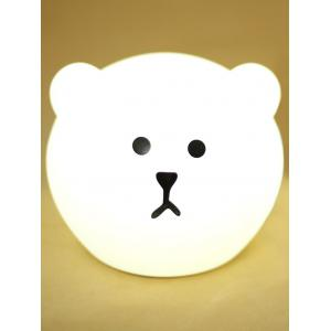Color Change Silica Gel USB Cartoon LED Nightlight - White - 12.5*12.5*12.5