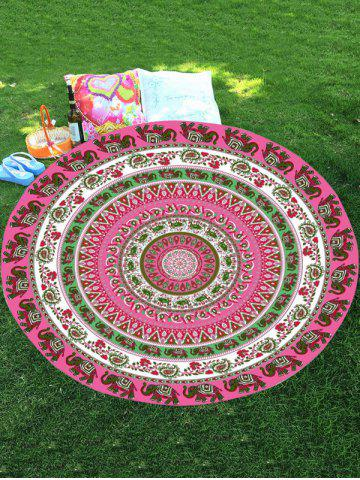 Best Thailand Elephant Round Shape Chiffon Mandala Beach Throw