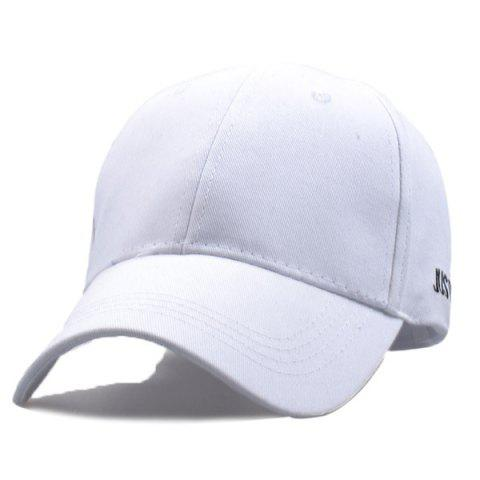 Buy Baseball Hat JUSTO Embroidery - White