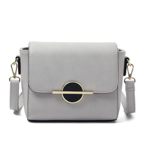 Shops PU Leather Metal Detail Crossbody Bag