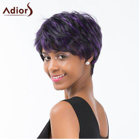 Latest Adiors Layered Colormix Short Side Bang Straight Synthetic Wig - COLORMIX  Mobile