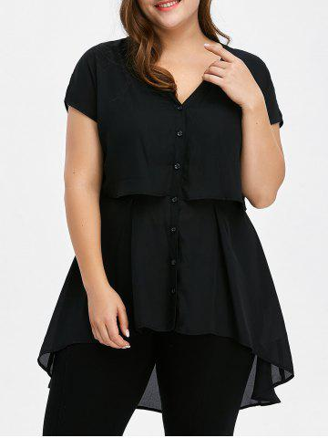 Affordable Plus Size Tunic Chiffon Top