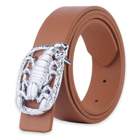 Fashion Wide Belt with Scorpion Shape Covered Buckle
