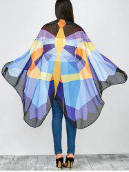 Color Block Butterfly Wing Cape Chiffon Pashmina with Straps