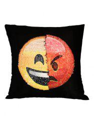 Angry Emoticons Reverisble Sequin Decorative Pillow Case