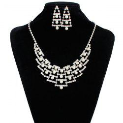 Bridal Wedding Faux Pearl Rhinestone Jewelry Set