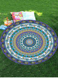 Elephant Mandala Round Shape Chiffon Beach Throw