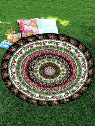 Thaïlande Celebration Elephant Mandala Round Shape Plage Throw