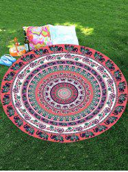 Mousseline Thaïlande Elephant Mandala Round Shape Plage Throw