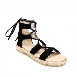 Espadrilles Flat Gladiator Lace Up Sandals