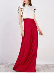 Strapless Maxi Dress With Cape -