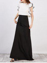Strapless Maxi Dress With Cape