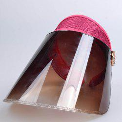 Breathable Anti UV Board Glitter Powder Visor