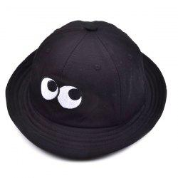 Bucket Sun Hat with Cartoon Eyes Embroidery