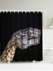 Snake Head Waterproof Fabric Shower Curtain