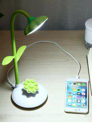 Sunflower Shape Rotating Rechargeable LED Table Lamp -