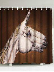 Horse Head Print Mildew Resistant Shower Curtain