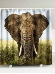 Elephant Printed Extra Long Bathroom Shower Curtain