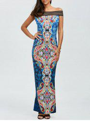 Off The Shoulder African Tribal Bodycon Dress