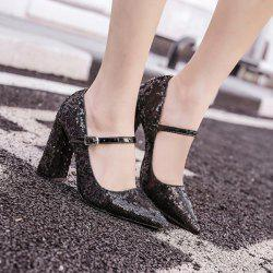 Sequined Pointed Toe Pumps