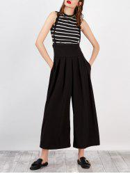High Rise Suspender Scrub Pants with Pockets