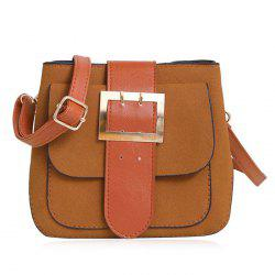 Buckle Strap Color Block Crossbody Bag
