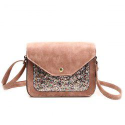 Sequins Insert Cross Body Mini Bag - PINK
