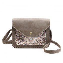 Sequins Insert Cross Body Mini Bag - GRAY