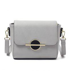PU Leather Metal Detail Crossbody Bag