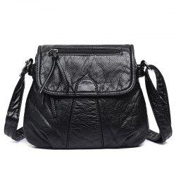 Textured Cross Body Flap Bag