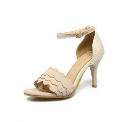 Wavy Edge Faux Leather Sandals
