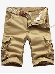 Multi Pockets Zip Fly Cargo Shorts