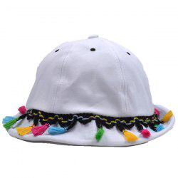 Colorful Tassel Embellished Ethnic Bucket Sun Hat