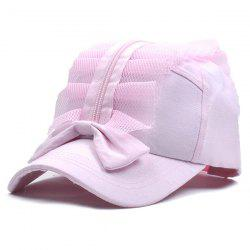 Bowknot Zipper Mesh Baseball Hat