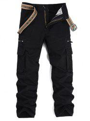 Graphic Embroidered Multi Pockets Cargo Pants