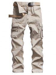 Straight Leg Multi Pockets Design Cargo Pants