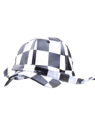 Checked Long Ajust Band Baseball Hat