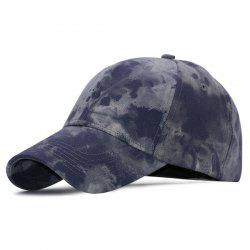 Faire Old design Denim Fabric Baseball Hat - Bleu Foncé